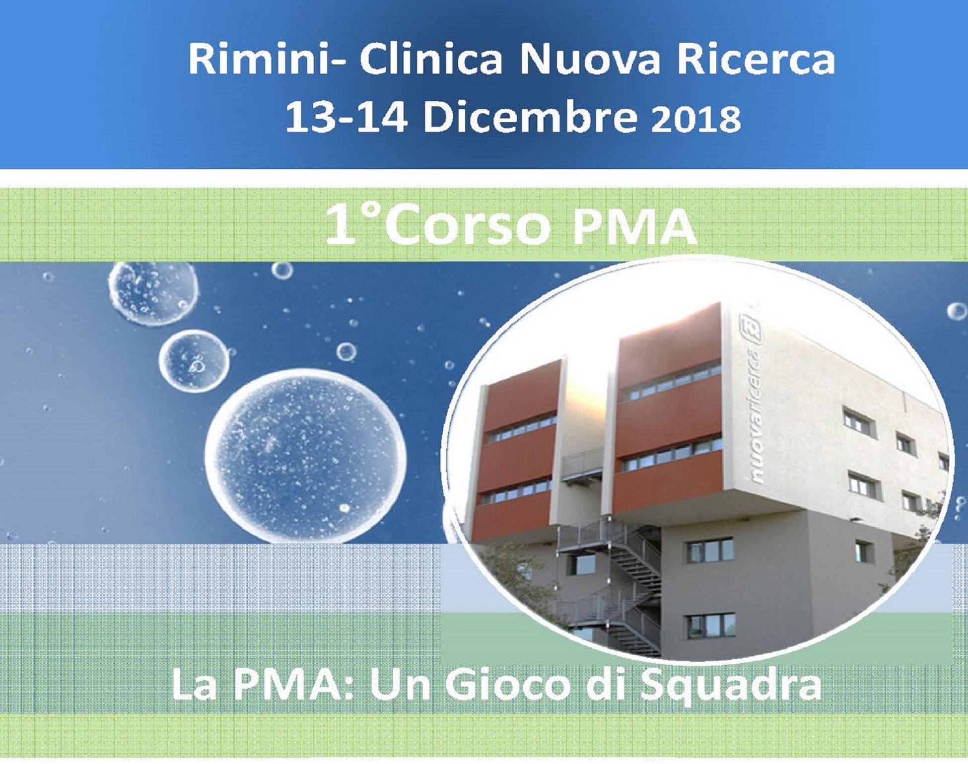 """I Corso La Procreazione Medicalmente Assistita """"Un Gioco di  Squadra"""" Nuova Ricerca, Rimini 13-14 Dicembre 2018"""