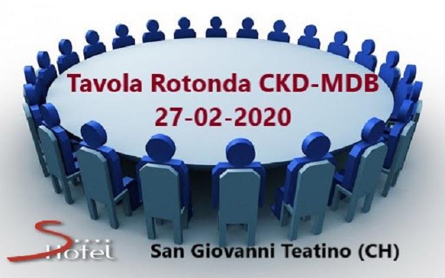 Tavola Rotonda CKD-MBD Revisione critica LG Kdigo 2017: CKD-MBD, Esperienze a confronto – S. Giovanni Teatino (CH) 27/02/2020